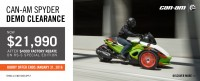 Can-Am Spyder Demo Clearance!